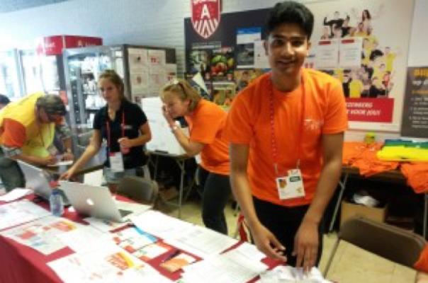 Onthaaltalent op de Special Olympics.